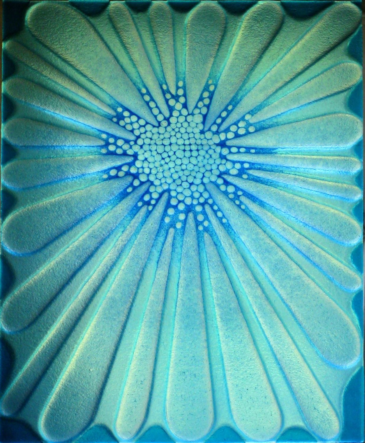 'Blue Flower' door panel